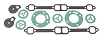 Crusader Exhaust Manifold Gasket Set 18-0602